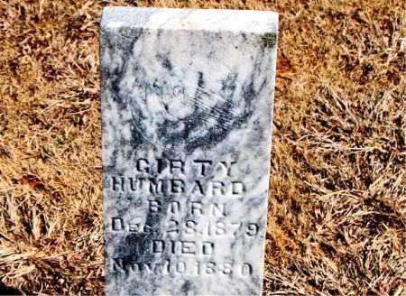 HUMBARD, GIRTY - Carroll County, Arkansas | GIRTY HUMBARD - Arkansas Gravestone Photos