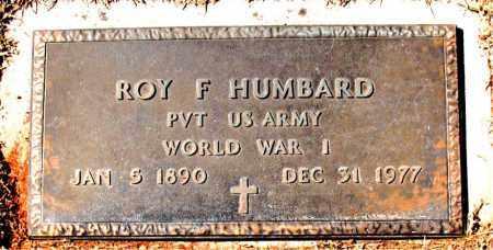 HUMBARD (VETERAN WWI), ROY F - Carroll County, Arkansas | ROY F HUMBARD (VETERAN WWI) - Arkansas Gravestone Photos