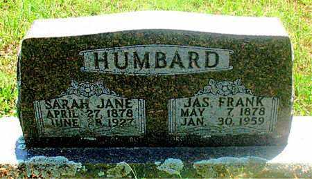 HUMBARD, SARAH JANE - Carroll County, Arkansas | SARAH JANE HUMBARD - Arkansas Gravestone Photos