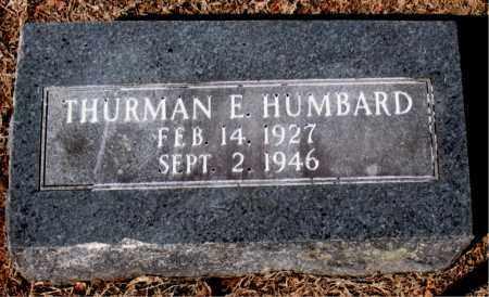 HUMBARD, THURMAN E. - Carroll County, Arkansas | THURMAN E. HUMBARD - Arkansas Gravestone Photos