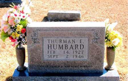 HUMBARD, THURMAN E. - Carroll County, Arkansas   THURMAN E. HUMBARD - Arkansas Gravestone Photos