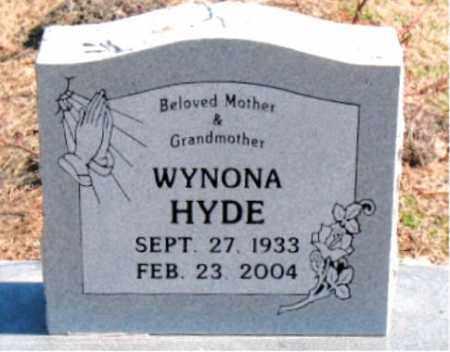 HYDE, WYNONA - Carroll County, Arkansas | WYNONA HYDE - Arkansas Gravestone Photos