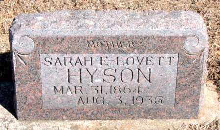LOVETT HYSON, SARAH E. - Carroll County, Arkansas | SARAH E. LOVETT HYSON - Arkansas Gravestone Photos