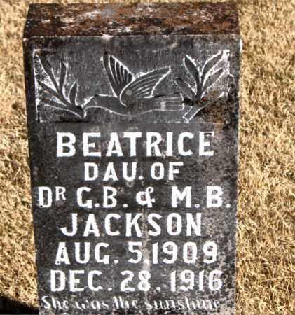 JACKSON, BEATRICE - Carroll County, Arkansas | BEATRICE JACKSON - Arkansas Gravestone Photos