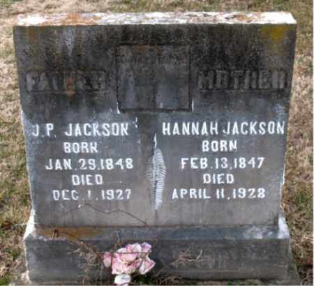 JACKSON, J.  P. - Carroll County, Arkansas | J.  P. JACKSON - Arkansas Gravestone Photos