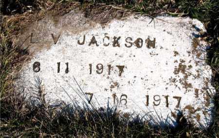 JACKSON, L.  V. - Carroll County, Arkansas   L.  V. JACKSON - Arkansas Gravestone Photos
