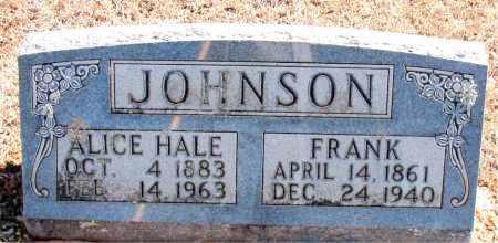 HALE JOHNSON, ALICE - Carroll County, Arkansas   ALICE HALE JOHNSON - Arkansas Gravestone Photos
