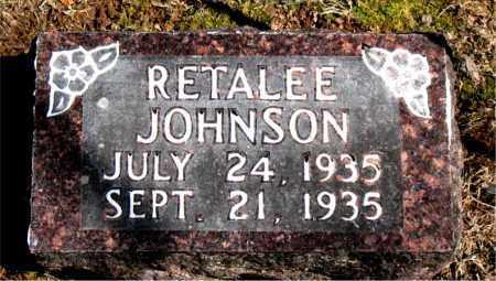 JOHNSON, RETALEE - Carroll County, Arkansas | RETALEE JOHNSON - Arkansas Gravestone Photos
