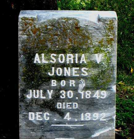 JONES, ALSORIA V - Carroll County, Arkansas | ALSORIA V JONES - Arkansas Gravestone Photos