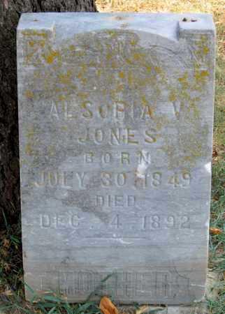 JONES, ALSORIA V (2) - Carroll County, Arkansas | ALSORIA V (2) JONES - Arkansas Gravestone Photos