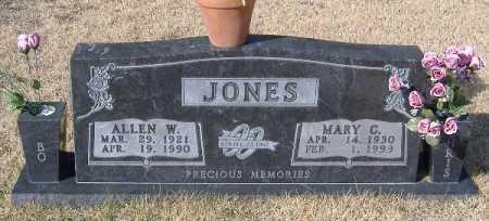 JONES, ALLEN W - Carroll County, Arkansas   ALLEN W JONES - Arkansas Gravestone Photos