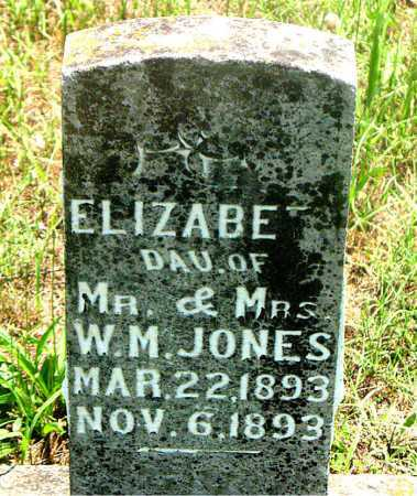 JONES, ELIZABETH - Carroll County, Arkansas | ELIZABETH JONES - Arkansas Gravestone Photos