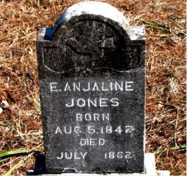 JONES, E  ANJALINE - Carroll County, Arkansas | E  ANJALINE JONES - Arkansas Gravestone Photos