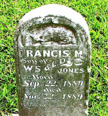 JONES, FRANCIS M - Carroll County, Arkansas | FRANCIS M JONES - Arkansas Gravestone Photos
