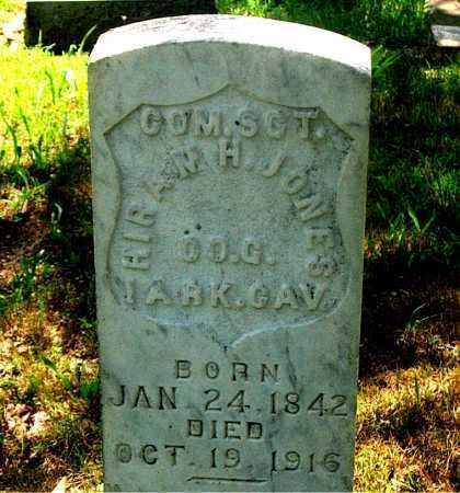 JONES (VETERAN UNION), HIRAM HENRY - Carroll County, Arkansas | HIRAM HENRY JONES (VETERAN UNION) - Arkansas Gravestone Photos
