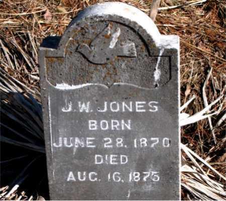 JONES, J.  W. - Carroll County, Arkansas | J.  W. JONES - Arkansas Gravestone Photos