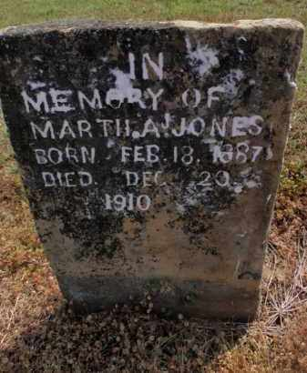 JONES, MARTHA A - Carroll County, Arkansas | MARTHA A JONES - Arkansas Gravestone Photos