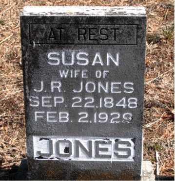 JONES, SUSAN - Carroll County, Arkansas   SUSAN JONES - Arkansas Gravestone Photos