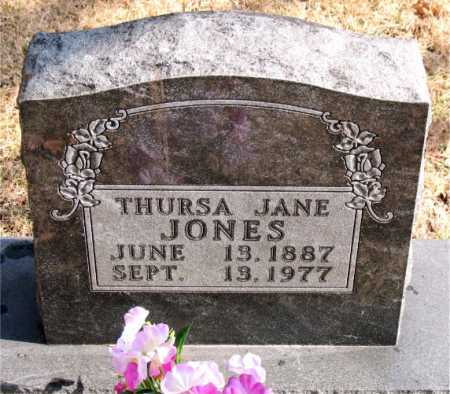JONES, THURSA  JANE - Carroll County, Arkansas | THURSA  JANE JONES - Arkansas Gravestone Photos