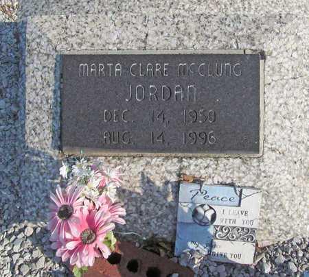 JORDAN, MARTA CLARE - Carroll County, Arkansas | MARTA CLARE JORDAN - Arkansas Gravestone Photos