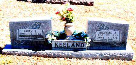 KEELAND, MILFORD A. - Carroll County, Arkansas | MILFORD A. KEELAND - Arkansas Gravestone Photos