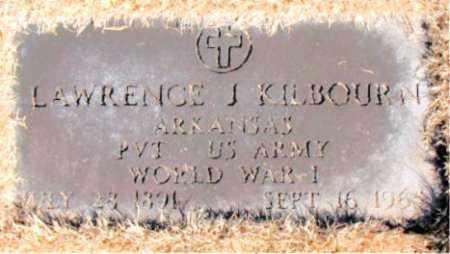 KILBOURN  (VETERAN WWI), LAWRENCE  J - Carroll County, Arkansas   LAWRENCE  J KILBOURN  (VETERAN WWI) - Arkansas Gravestone Photos