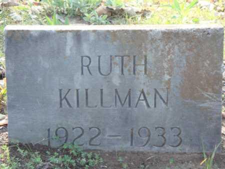 KILLMAN, RUTH - Carroll County, Arkansas | RUTH KILLMAN - Arkansas Gravestone Photos