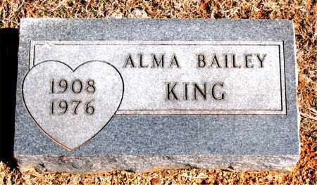 KING, ALMA - Carroll County, Arkansas   ALMA KING - Arkansas Gravestone Photos