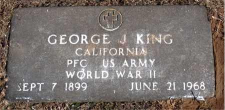 KING (VETERAN WWII), GEORGE J - Carroll County, Arkansas   GEORGE J KING (VETERAN WWII) - Arkansas Gravestone Photos