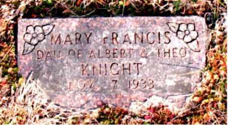 KNIGHT, MARY FRANCIS - Carroll County, Arkansas   MARY FRANCIS KNIGHT - Arkansas Gravestone Photos