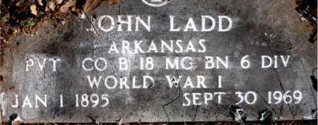 LADD  (VETERAN WWI), JOHN - Carroll County, Arkansas   JOHN LADD  (VETERAN WWI) - Arkansas Gravestone Photos