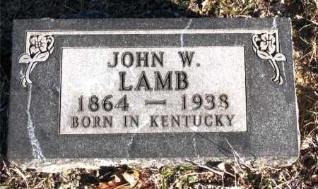 LAMB, JOHN W. - Carroll County, Arkansas | JOHN W. LAMB - Arkansas Gravestone Photos