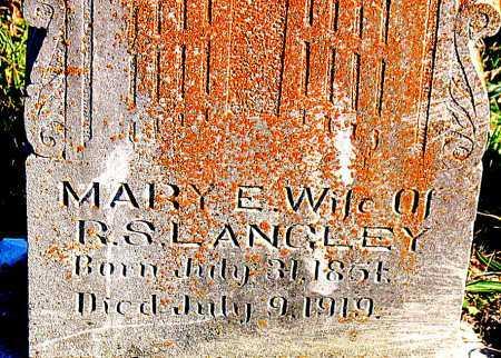LANGLEY, MARY  E. - Carroll County, Arkansas | MARY  E. LANGLEY - Arkansas Gravestone Photos