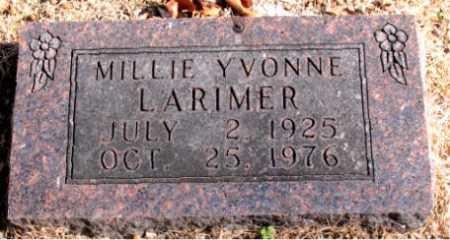 LARIMER, MILLIE YVONNE - Carroll County, Arkansas   MILLIE YVONNE LARIMER - Arkansas Gravestone Photos