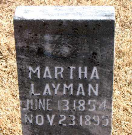 LAYMAN, MARTHA - Carroll County, Arkansas | MARTHA LAYMAN - Arkansas Gravestone Photos