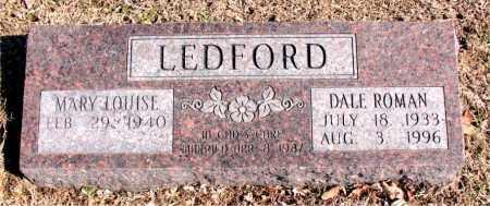 LEDFORD, DALE  ROMAN - Carroll County, Arkansas   DALE  ROMAN LEDFORD - Arkansas Gravestone Photos