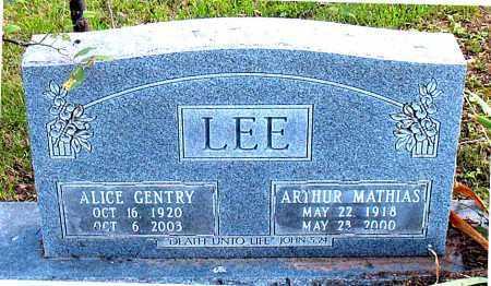 LEE, ALICE - Carroll County, Arkansas | ALICE LEE - Arkansas Gravestone Photos