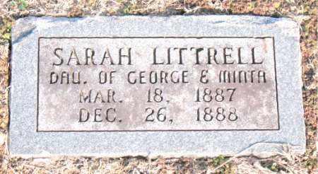 LITTRELL, SARAH - Carroll County, Arkansas   SARAH LITTRELL - Arkansas Gravestone Photos