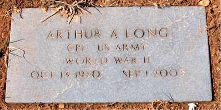 LONG (VETERAN WWII), ARTHUR A - Carroll County, Arkansas   ARTHUR A LONG (VETERAN WWII) - Arkansas Gravestone Photos