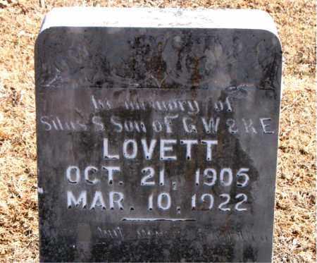 LOVETT, SILAS S. - Carroll County, Arkansas | SILAS S. LOVETT - Arkansas Gravestone Photos