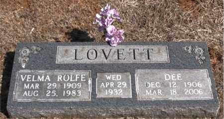 LOVETT, VELMA ROLFE - Carroll County, Arkansas | VELMA ROLFE LOVETT - Arkansas Gravestone Photos