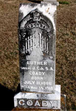 COADY, LUTHER - Carroll County, Arkansas   LUTHER COADY - Arkansas Gravestone Photos