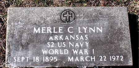 LYNN  (VETERAN WWI), MERLE C - Carroll County, Arkansas | MERLE C LYNN  (VETERAN WWI) - Arkansas Gravestone Photos