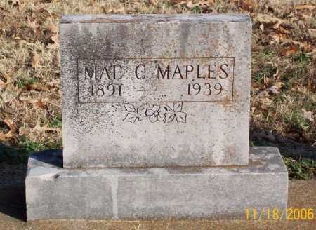 MAPLES, MAE C. - Carroll County, Arkansas | MAE C. MAPLES - Arkansas Gravestone Photos