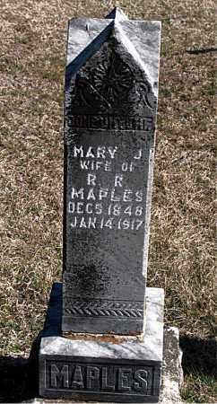 MAPLES, MARY J - Carroll County, Arkansas | MARY J MAPLES - Arkansas Gravestone Photos