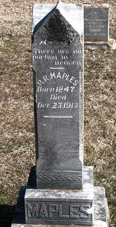 MAPLES, R R - Carroll County, Arkansas | R R MAPLES - Arkansas Gravestone Photos