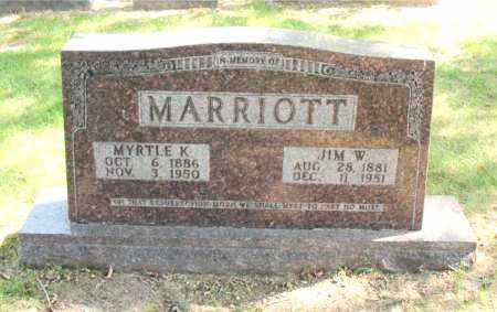 MARRIOTT, MYRTLE  K - Carroll County, Arkansas | MYRTLE  K MARRIOTT - Arkansas Gravestone Photos