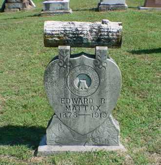 MATTOX, EDWARD B - Carroll County, Arkansas | EDWARD B MATTOX - Arkansas Gravestone Photos