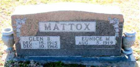 MATTOX, GLEN  B - Carroll County, Arkansas | GLEN  B MATTOX - Arkansas Gravestone Photos
