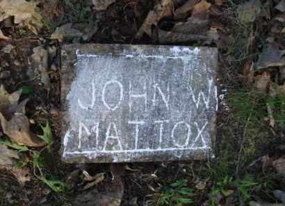 MATTOX, JOHN W. - Carroll County, Arkansas | JOHN W. MATTOX - Arkansas Gravestone Photos